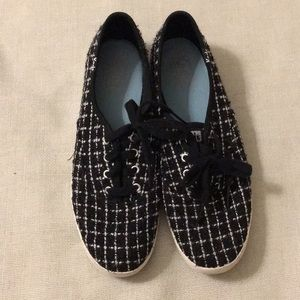 Keds black and white checked sneakers, 7.5.